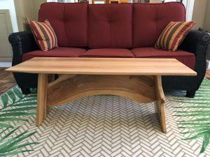 Apple wood coffee table Evan Wittels
