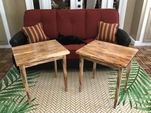 Ambrosia Maple wood end tables Evan Wittels