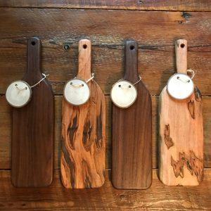 cutting boards wine bottle shaped Evan Wittels wood