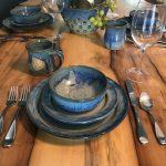 Earthen Vessels Pottery Gleason TN wood table Evan Wittels